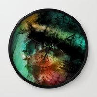 abyss Wall Clocks featuring abyss by alnavasord