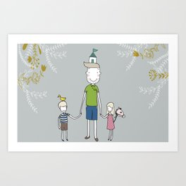 Daddy's home. Art Print