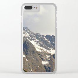 Blue Sky - Snowy Mountain Clear iPhone Case