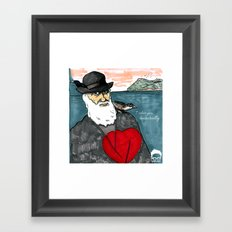 A Darwinian Heart Framed Art Print