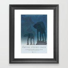 Empire Strikes Back Movie Poster Framed Art Print