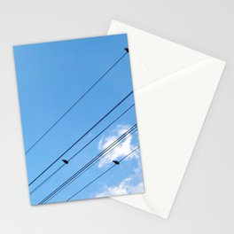 Bird on a wire no.1 Stationery Cards
