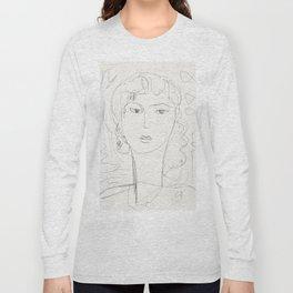 Sketch of a pop girl Long Sleeve T-shirt