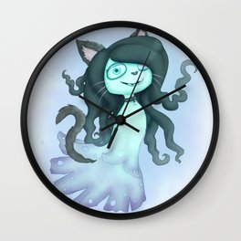 Halloween Whisp Wall Clock