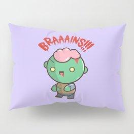 Zombie Kawaii   BRAAAINS!!!! BRAINS!! Halloween Pillow Sham