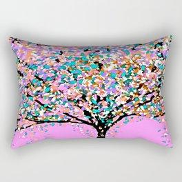 Trees Pink Rectangular Pillow