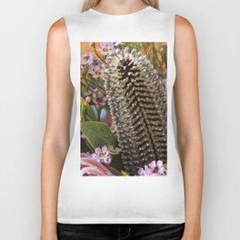 Banksia and Protea blooms Biker Tank