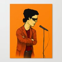 lou reed Canvas Prints featuring Lou Reed by Nick Gibney