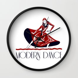 Festival of modern dance Wall Clock