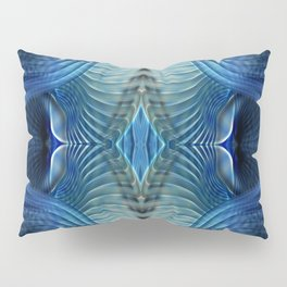 Blue abstract patterns Pillow Sham