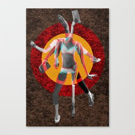 Build a Woman - Cut and Glue · Nina R Vana · Not enough for You Canvas Print