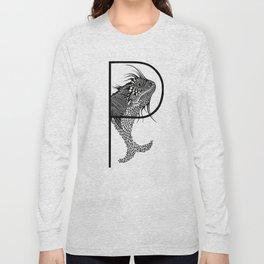 Letter P Long Sleeve T-shirt