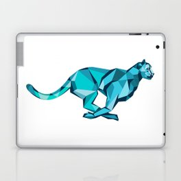 Cheetah Full Speed Running Low Poly Laptop & iPad Skin