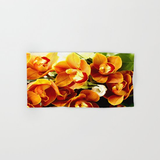 Orchid Corsage Hand & Bath Towel