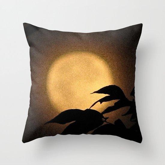 Autumn Moon Throw Pillow