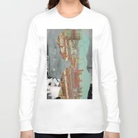 postcard Long Sleeve T-shirts featuring Postcard from Home by Erin Case