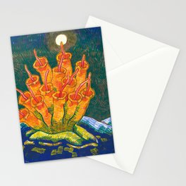 Night Plant Emerges to Meet the Body Farm Moon Stationery Cards