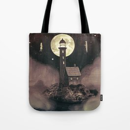 Lighthouse Ghosts Tote Bag
