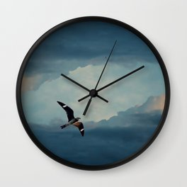Nighthawk Day Flight Wall Clock