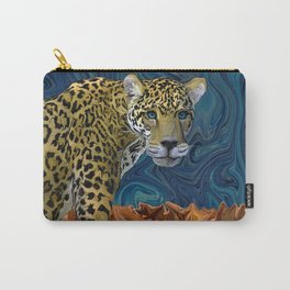 Leopard with the Sky in His Eyes Carry-All Pouch