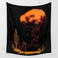 cowboy Wall Tapestries featuring Atomic Cowboy by bronzarino