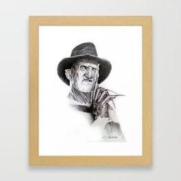 Freddy krueger nightmare on elm street Framed Art Print