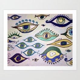 """""""Evil Eyes of Everywhere"""" Art Print"""