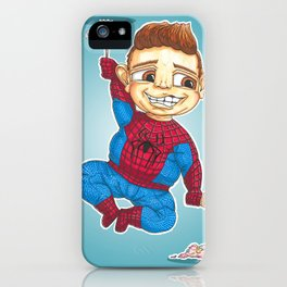Hanging with Spidey iPhone Case