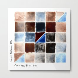 Color Chart - Burnt Sienna (DS) and Cerulean Blue (DS) Metal Print