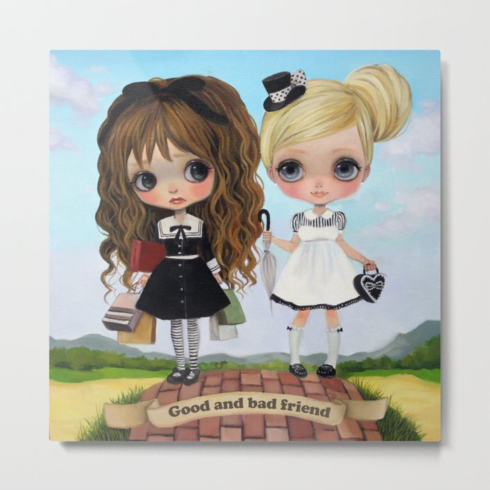 Good and bad friend Metal Print