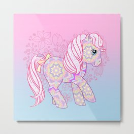 g1 my little pony mandala Metal Print