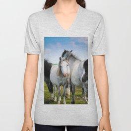 Horses Horses 4 Unisex V-Neck