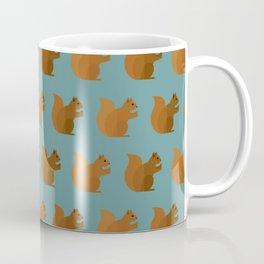 Squirrels on blue Coffee Mug