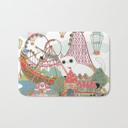 the Day of the rollercoaster Bath Mat