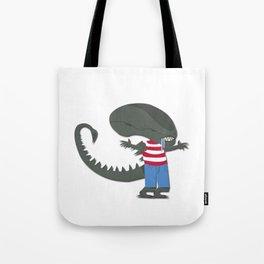 Alien Wally Tote Bag
