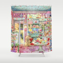 The Little Cake Shop Shower Curtain