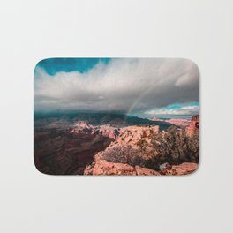 Rainbow over the Canyon Bath Mat