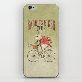 Rabbits Biker Club iPhone Skin