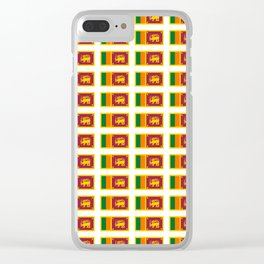 flag of sri lanka- ශ්රී ලංකා,இலங்கை, ceylon,Sri Lankan,Sinhalese,Sinhala,Colombo. Clear iPhone Case