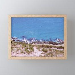 Land vs Sea Framed Mini Art Print