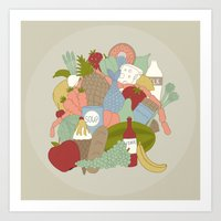 food Art Prints featuring FOOD by Nora