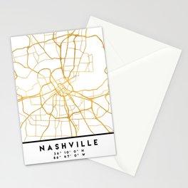 NASHVILLE TENNESSEE CITY STREET MAP ART Stationery Cards