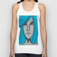 no face Tank Tops featuring Face by LCMedia
