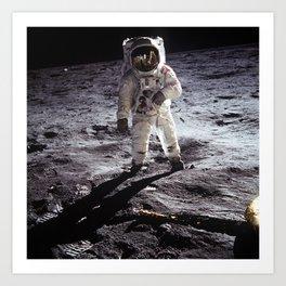 Apollo 11 - Iconic Buzz Aldrin On The Moon Art Print
