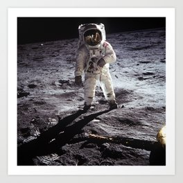 Apollo 11 - Iconic Buzz Aldrin On The Moon Art Print