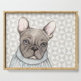 French style - French Bulldog Serving Tray