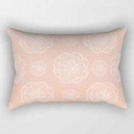 Peach Blush Romantic Flower Mandala Pattern #3 #decor #art #society6 Rectangular Pillow