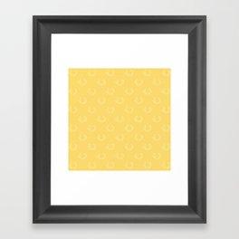 Simple Wreath Pattern Pale Gold Framed Art Print