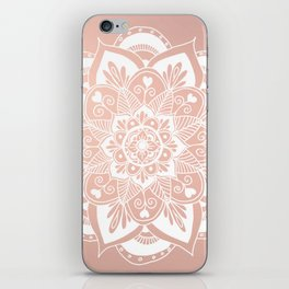 Flower Mandala on Rose Gold iPhone Skin