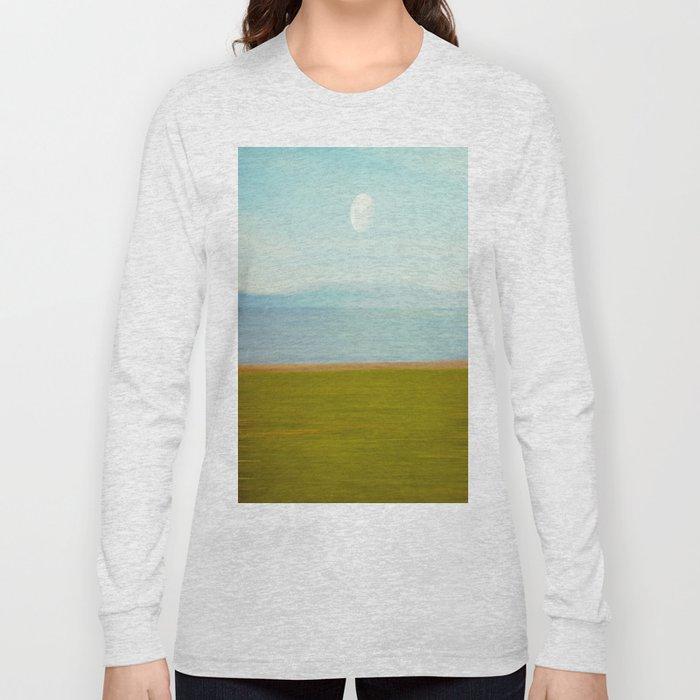 Moon on Beach Long Sleeve T-shirt